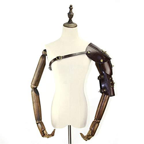 UICICI Hombre Steampunk retro armadura de cuero con hombro ...