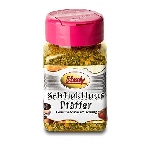 Stedy Gwürz - SchtiekHuusPfäffer - der Steakpfeffer aus der Schweiz im 250g-Streuer - perfektes Gewürz für alle Fleischgerichte