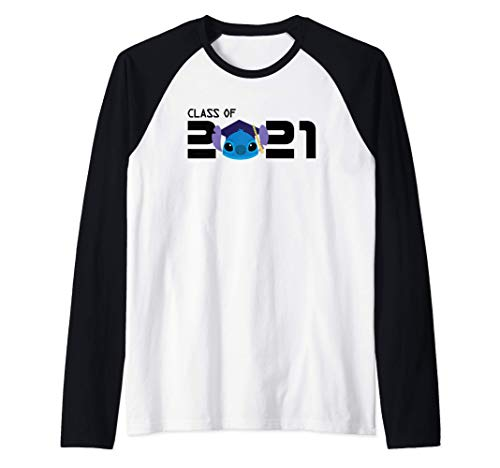 Disney Stitch Graduation Class of 2021 Camiseta Manga Raglan