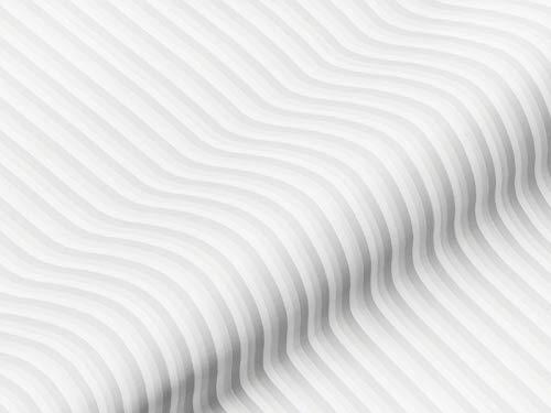 Gardinenstoff Vorhangstoff BOUNTY Streifenmuster creme-weiß, Meterware für Gardinen, Vorhänge, Rollos, blickdicht, lichtdurchlässig, schwer entflammbar, Polyester Trevira CS, Bleiband
