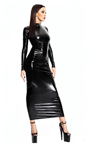 1001-kleine-Sachen at Wetlook-Kleid Dorothea inkl. String Domina langes Kleid in schwarz von Demoniq Mistress Collection Dessous (S/M (32-36))
