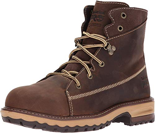 "Timberland PRO womens Hightower 6"" Alloy Toe Industrial Construction Shoe, Kaffe Full-grain Leather, 7.5 US"