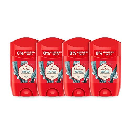PACK X4 Old Spice Deep Sea Desodorante en Barra para Hombres, 50...