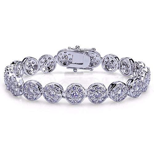 TBBDPT Hip Hop Rock Hommes Femmes Bling Bijoux Bracelet Or/Argent Couleur Micro Pave Cubique Zircon 10mm Bracelets 20 cm Longueur