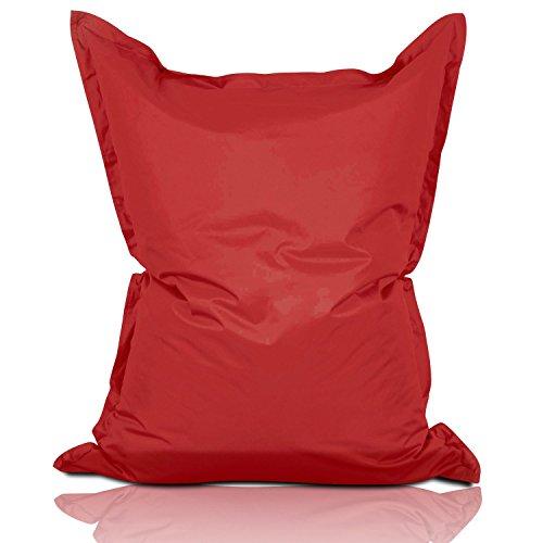 Lumaland PUF otomano Puff XXL 140 x 180 cm 380l con Relleno Innovador Maxi Puf Interior Exterior Rojo