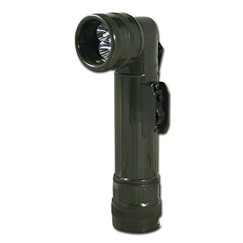 Mil-Tec Large LED Anglehead Flashlight (Olive Drab)