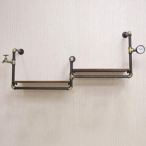Estantes flotantes, estante flotante, soporte de tubo de hierro decorativo para el soporte de papel higiénico en estilo retro industrial en estilo loft con la partición de hierro final kyman