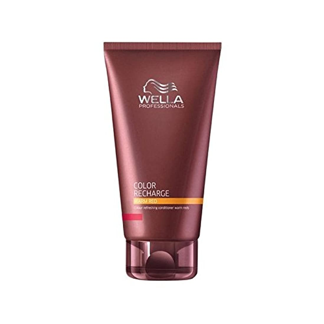 快適かりてタイトウエラ専門家のカラー再充電コンディショナー暖かい赤(200ミリリットル) x2 - Wella Professionals Color Recharge Conditioner Warm Red (200ml) (Pack of 2) [並行輸入品]