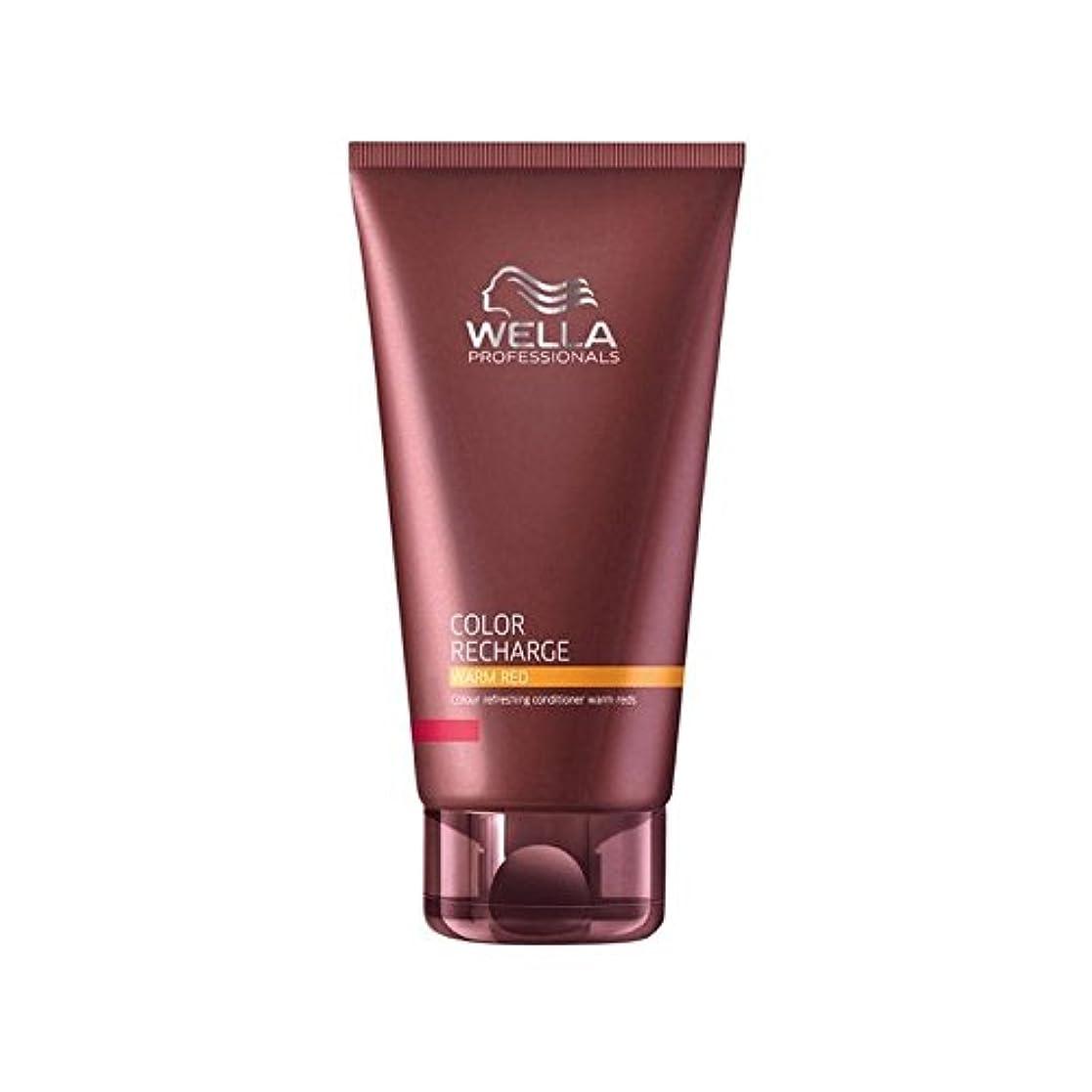 がんばり続ける雪だるまを作る舌なウエラ専門家のカラー再充電コンディショナー暖かい赤(200ミリリットル) x4 - Wella Professionals Color Recharge Conditioner Warm Red (200ml) (Pack of 4) [並行輸入品]
