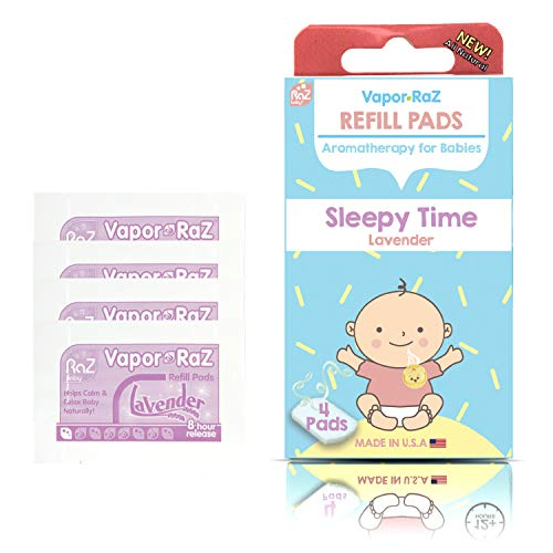 RaZbaby Vapor-RaZ Refills/Baby Sleepy Time & Relax/Use at Home & on The go/All Natural Lavender Oils / 4 Refills