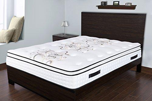 Spectra Orthopedic Mattress Premium 12.5 Inch medium plush memory foam & gel quilted-top pocketed coil mattress