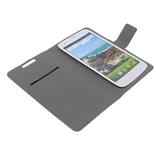 foto-kontor Tasche für Mobiwire Ahiga Book Style Ultra-dünn Schutz Hülle Buch schwarz
