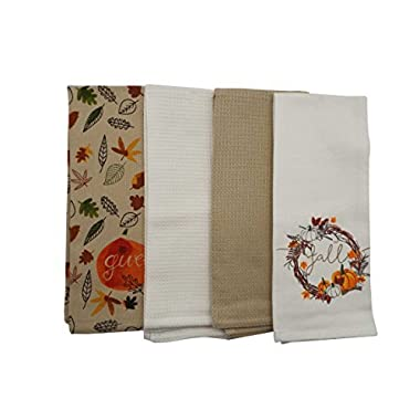 Fall Kitchen Towels - Set of 4 - 16 x 28 inches (GiveFall)