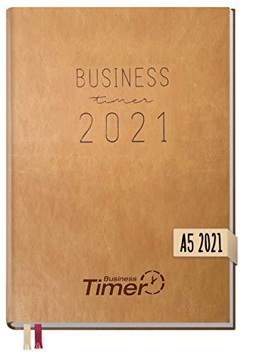 Chäff Business-Timer 2021 A5 hellbraun | Wochenplaner, Wochenkalender, Organizer, Terminkalender für perfektes Zeitmanagement | nachhaltig & klimaneutral