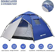 Weanas Instant Camping Tent, 3-4 Person Automatic Pop-Up Family Tents Waterproof Portable Backpacking Tent for Outdoor Hiking Travel Beach