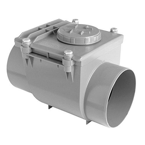 First plast nrc160g Válvula antirretorno de PVC ad pegar, Gris, Diámetro 160mm