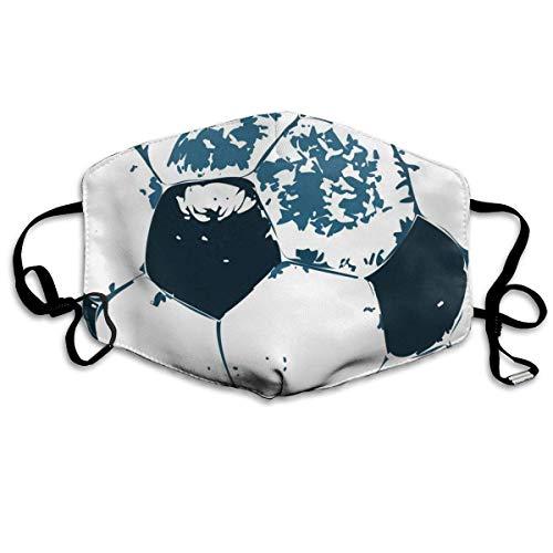 Cubierta de boca bonita unisex de primera calidad,cubierta facial ajustable para mujeres,hombres,estilo artístico de balón de fútbol
