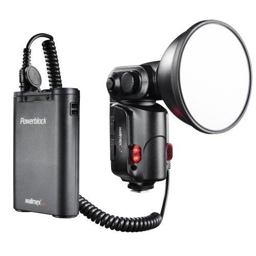 Walimex pro Light Shooter 180 Blitzgerät (180Ws Leistung) inkl. Powerblock II (mobile Batterie 2000mAh)