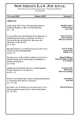 Southern Law Journal, Spring 2012