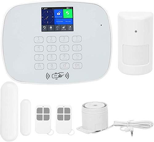 Sistema de Seguridad para el hogar, Sistema de Alarma inalámbrico gsm GPRS App Control Remoto RFID Seguridad antirrobo, Control Remoto Pantalla TFT Inteligente de 2,4 Pulgadas Aviso(YO)
