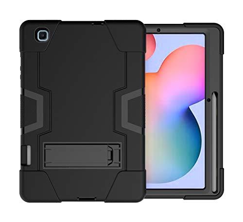 Neecio Funda para Samsung Galaxy Tab S6 Lite 10.4 (P610 / P615) 2020, 3 Layers Funda Protectora con Soporte para S Pen para Tab S6 Lite 10.4 Pulgadas (Black)