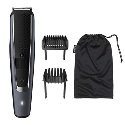 Philips BT5502/16 Barbero y cortapelos con 40 Posiciones de Longitud, Resistente al Agua y Cuchillas metálicas autoafilables, Negro