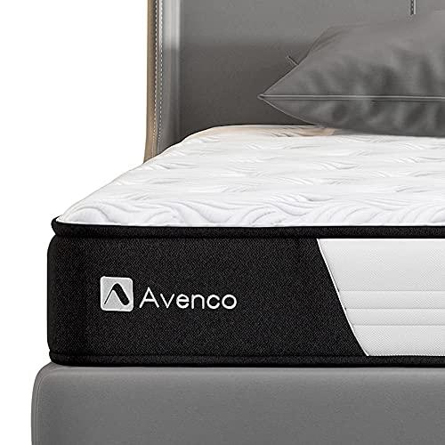 Avenco 5-Zonen Matratze 90x200, Hybrid Federkernmatratze mit Memory-Schaum, Taschenfederkern Matratze 90x200 H3 mit ausgezeichneter Unterstützung, 90 x 200 cm, Höhe 18 cm, Weiß
