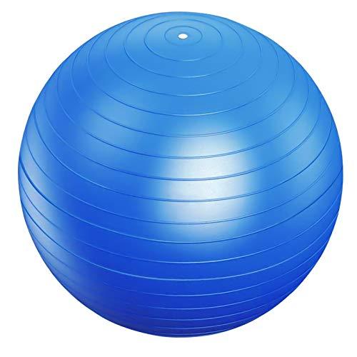 75cm Gymnastikball, Anti-Burst Yoga Ball, Anti-Rutsch Sitzball Stabilitätsball Geburtsball, Balance Ball für Büro Hause Fitnessstudio Exercise Yoga Pilates Fitness Geburtsvorbereitung (Blau)