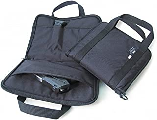 """Range Bags Shooting for Pistols Tactical Case by American Mountain Supply with Interior Pockets & External Expanding Pocket - Fits A Pistol and Accessories - Fits Up to 4-5"""" Automatics"""