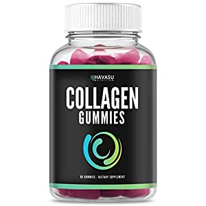 Havasu Nutrition Collagen Gummies Formulated to Support Hair, Skin, Nail Growth with Vital Proteins and Collagen Peptide Vitamins for Men & Women, Gelatin-Free, 60 Gummies