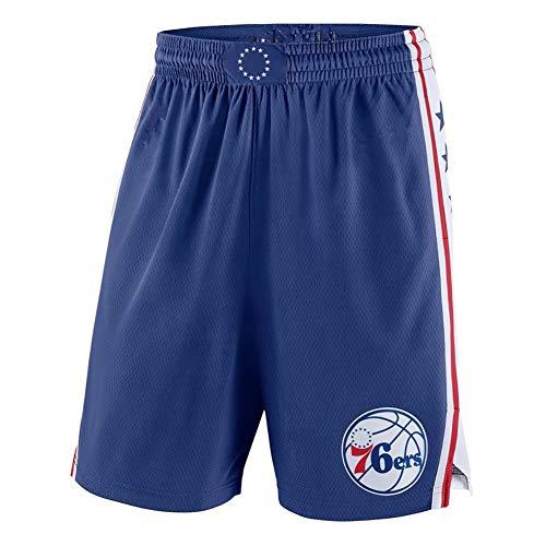 YSPORT Philadelphia 76ers Basketball-Shorts Fans Swingman Trikots Shorts Hohe Elastizität Gesticktes Netz Atmungsaktiv Und Tragbar (Color : Blue, Size : XL)