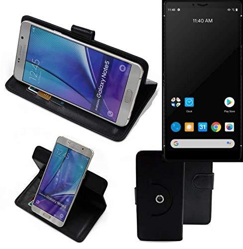 K-S-Trade® Hülle Schutz Hülle Für Carbon 1 MKII Handyhülle Flipcase Smartphone Cover Handy Schutz Tasche Bookstyle Walletcase Schwarz (1x)