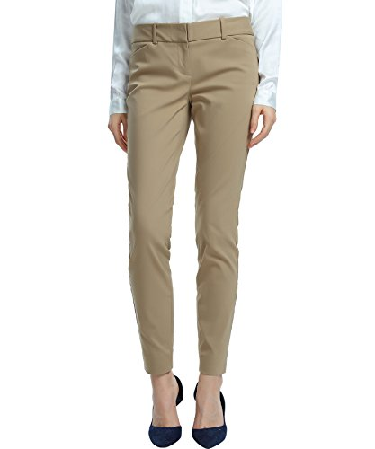 SATINATO Women's Straight Pants Stretch Slim Skinny...