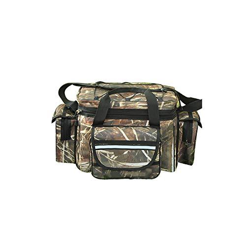 SUNASQ Wasserdichte Angeltasche, große Kapazität, multifunktional, für Köder, Angelausrüstung, Outdoor-Schultertasche