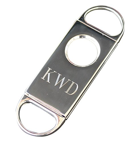 Personalized Cigar Cutter - Groomsmen Best Man - Engraved, Monogrammed and Customized