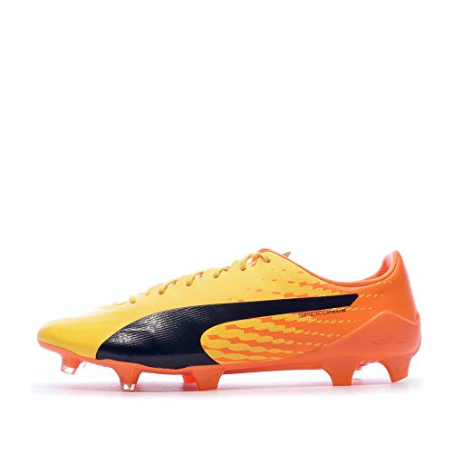PUMA Herren Evospeed 17 SL S FG Fußballschuhe, Gelb Ultra Yellow Peacoat Orange Clown Fish 04, 46.5 EU