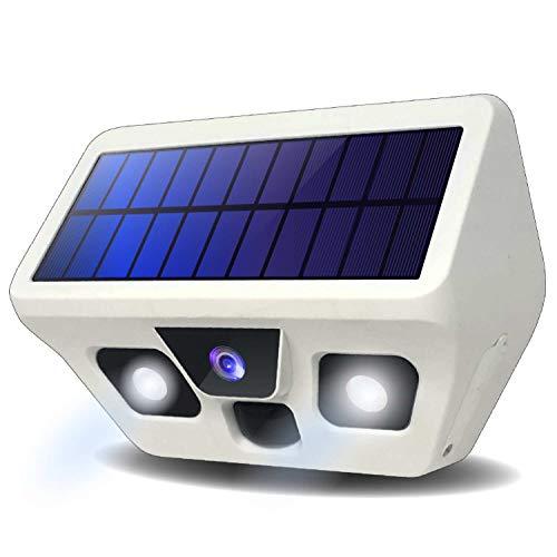 FL-Products LED センサーライト 防犯カメラ ソーラーパネル 屋外 防水 人感センサー センサーカメラ フルHD 動態検知 1080P LEDライト 搭載 120°検知