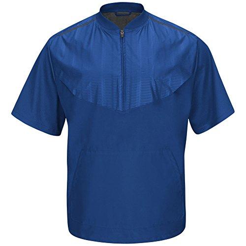 Majestic Men's Cool Base Short Sleeve Training Jacket Royal Small