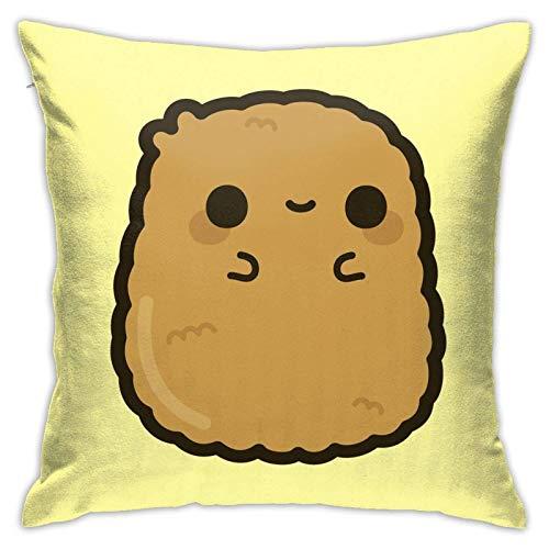 VJSDIUD Soft Cute Chicken Nugget Boden Kissen Kissenbezug, Autokissen, Sofa, Kissenbezug, Innenausstattung (45cmx45cm)