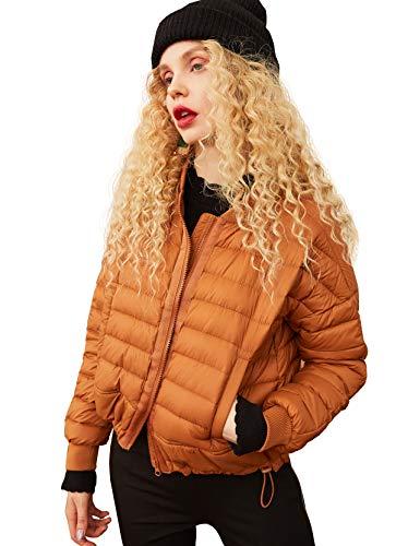 Elf zak dames bomberjack licht donsjack korte overgangsjas gewatteerde jas warmte koudebescherming winter jas