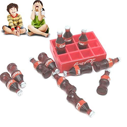 1set Miniature Coke Modelo Coopa de DolucióN Bebida SimulacióN Modelo Escenaje Juguetes Dolliciones de DolucióN Casa Accesorios Mini Bebida para Dollhouse Kid Pretend Toys