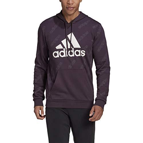 adidas Men's Standard Favorites Graphic Hoodie, Noble Purple, 2XL
