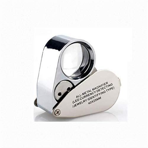 ZTHUAYUAN Lupa de artesanía Creativa Lupa de Mano 4X HD con microscopio de luz LED Reparación de Mini teléfono móvil portátil 20 Lectura de Ancianos 100 Hobbies Manualidades Lupa para Leer