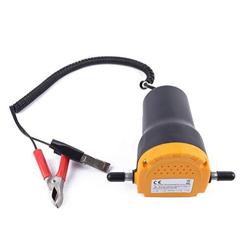 iMeshbean 12V Ölabsaugpumpe 60W 80W Dieselpumpe Absaugpumpe Ölpumpe Kraftstoffpumpe zum Ölwechsel Motoröl Heizöl Elektrische für Auto Motorräder Boote (60W)
