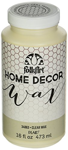 FolkArt Home Decor Chalk Furniture & Craft Paint in Assorted Colors, 16 ounce, Clear Wax