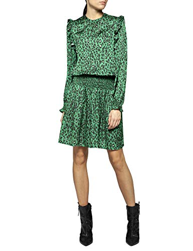 REPLAY W9521 .000.71850 Vestido, Multicolor (Green/Black 10), Large para Mujer