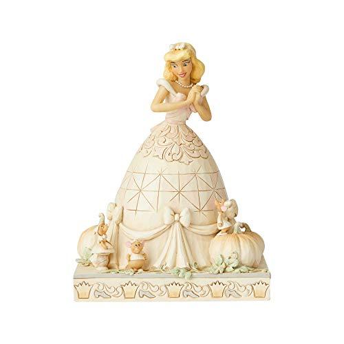 Enesco Disney Traditions by Jim Shore White Woodland Aschenputtel-Figur, 20,3 cm Höhe x 12,1 cm Breite x 15,2 cm Länge, Elfenbein, Pfirsichorange