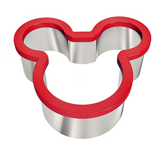 Swelt Mickey Mouse Cookie Cutter, Stainless Steel Sandwich Cutter, Fun Sandwich Biscuit Cutter for Kids Suitable for Cakes and Cookie (Mickey Mouse)