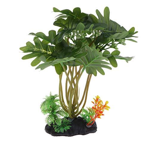 SM SunniMix Künstliche Pflanzen Wasserpflanzen Aquarium Dekoration Dunkelgrün
