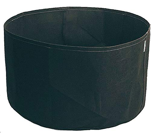 HORTIPOTS Large Gorw Pot, 100 to 150 Gallon Fabric Grow Bag Super Thick Self Supporting Round Air Pruning Raised Garden Bed (150 GAL-Round, Black)